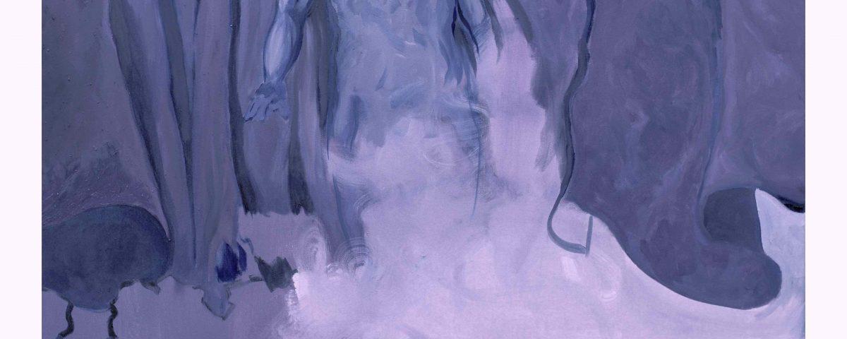 Filippo Cristini, Tutto ciò che è solido si scioglie nell'aria, 2018, olio su tela, 120x100 cm