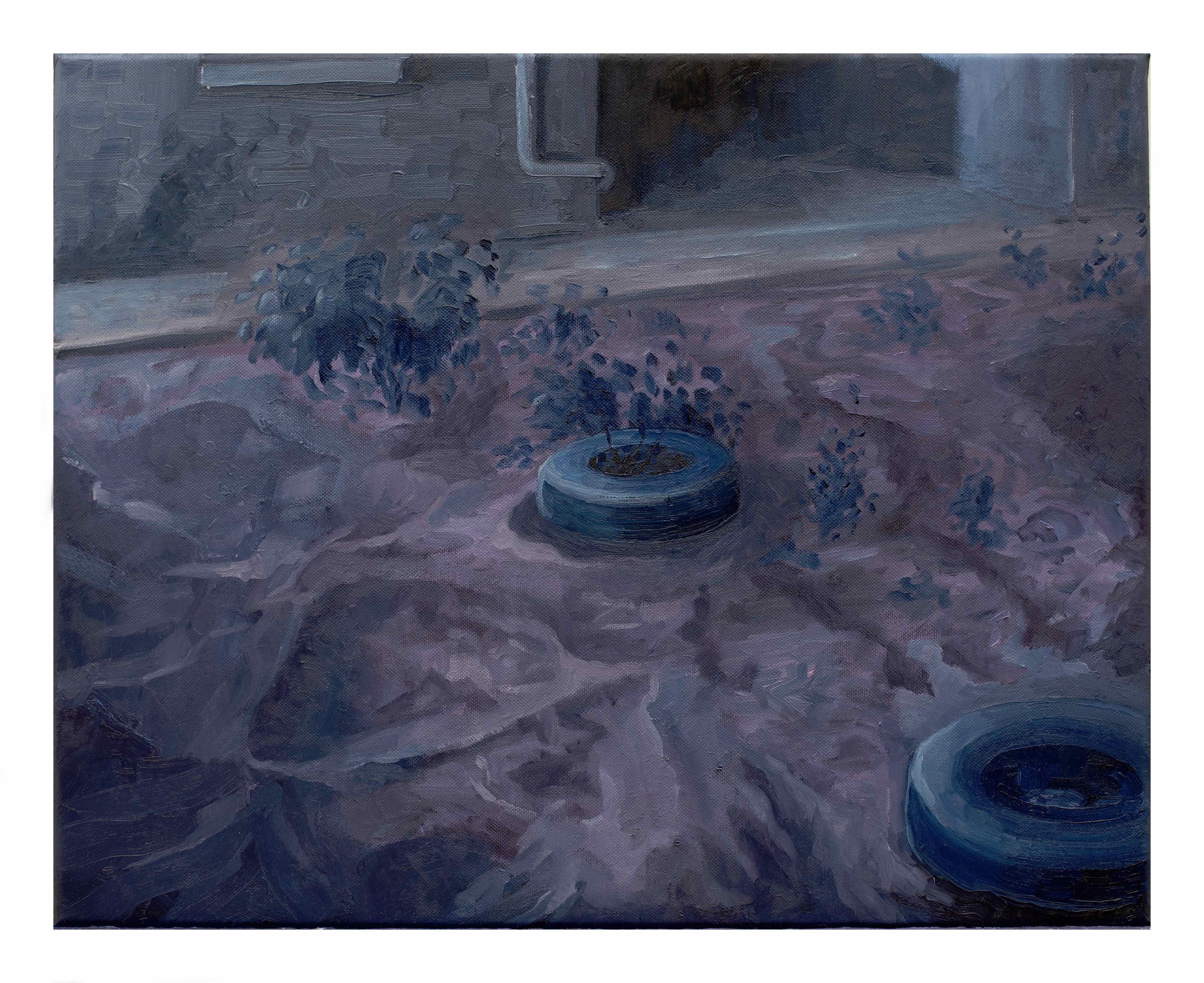 Tutto ciò che è solido si scioglie nell'aria, Filippo Cristini 2018, olio su tela, 40x50 cm