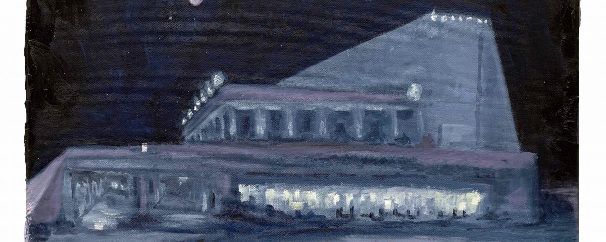 Filippo Cristini Tutto ciò che è solido si scioglie nell'aria, 2018, olio su tela, 40x50 cm