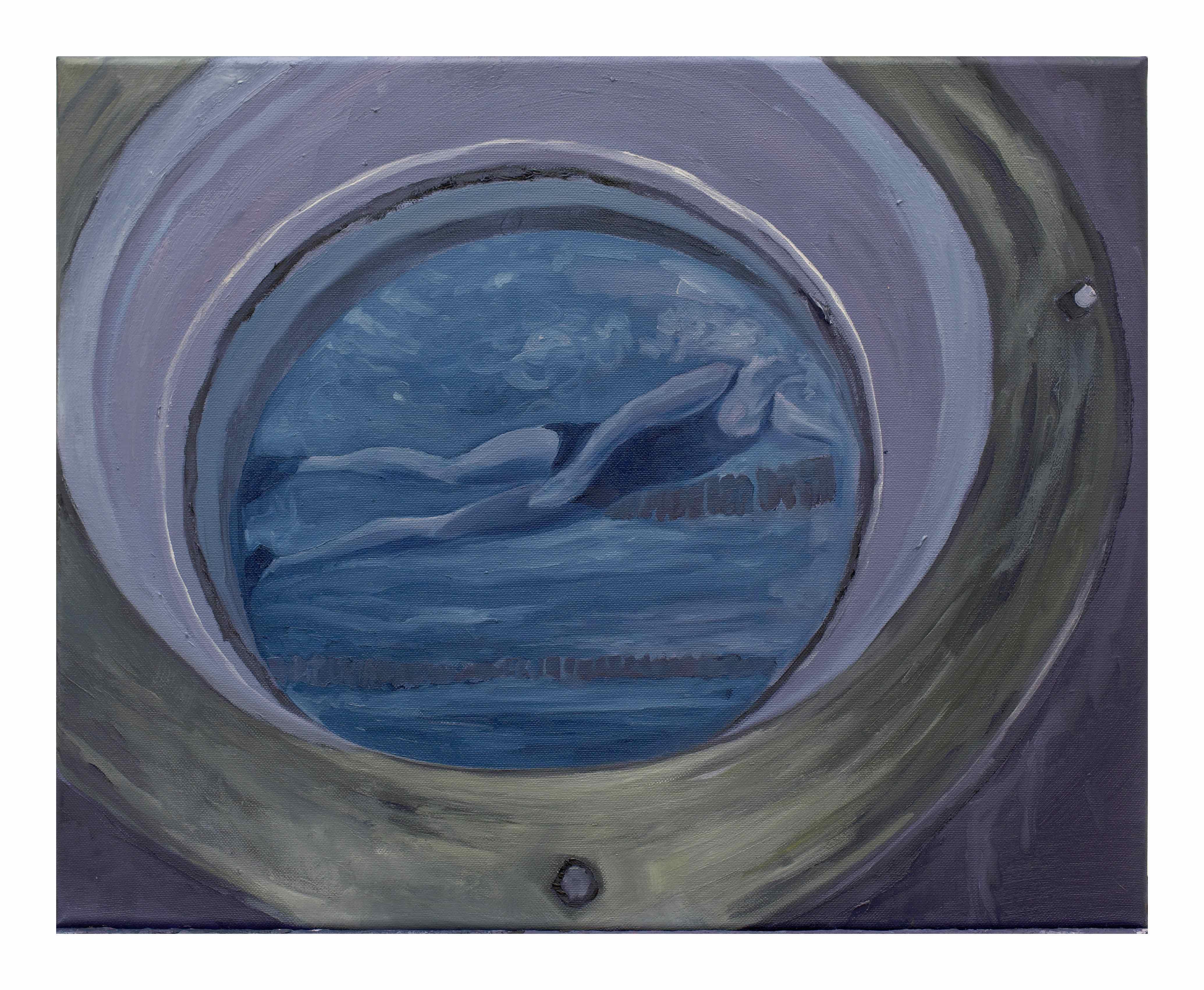 Filippo Cristini, Tutto ciò che è solido si scioglie nell'aria, 2018, olio su tela, 40x50 cm
