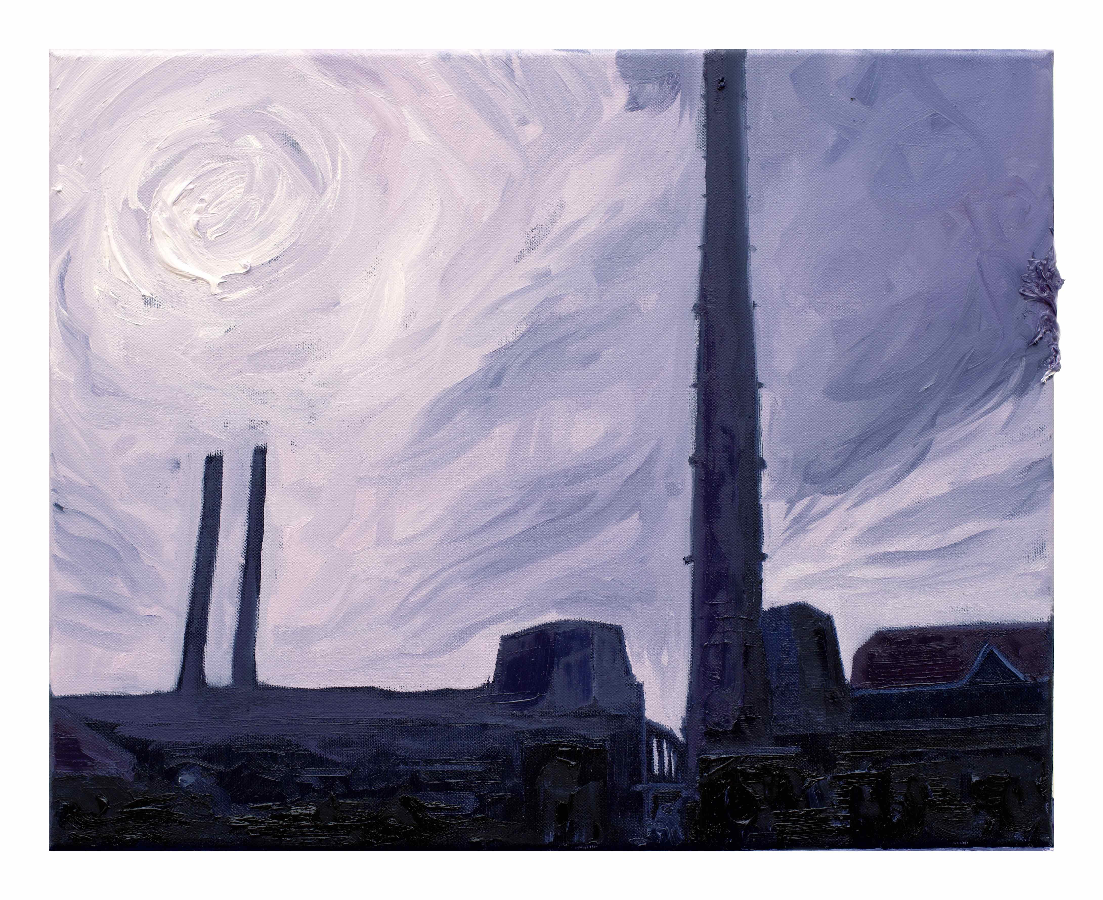 Tutto ciò che è solido si scioglie nell'aria,Filippo Cristini 2018, olio su tela, 40x50 cm