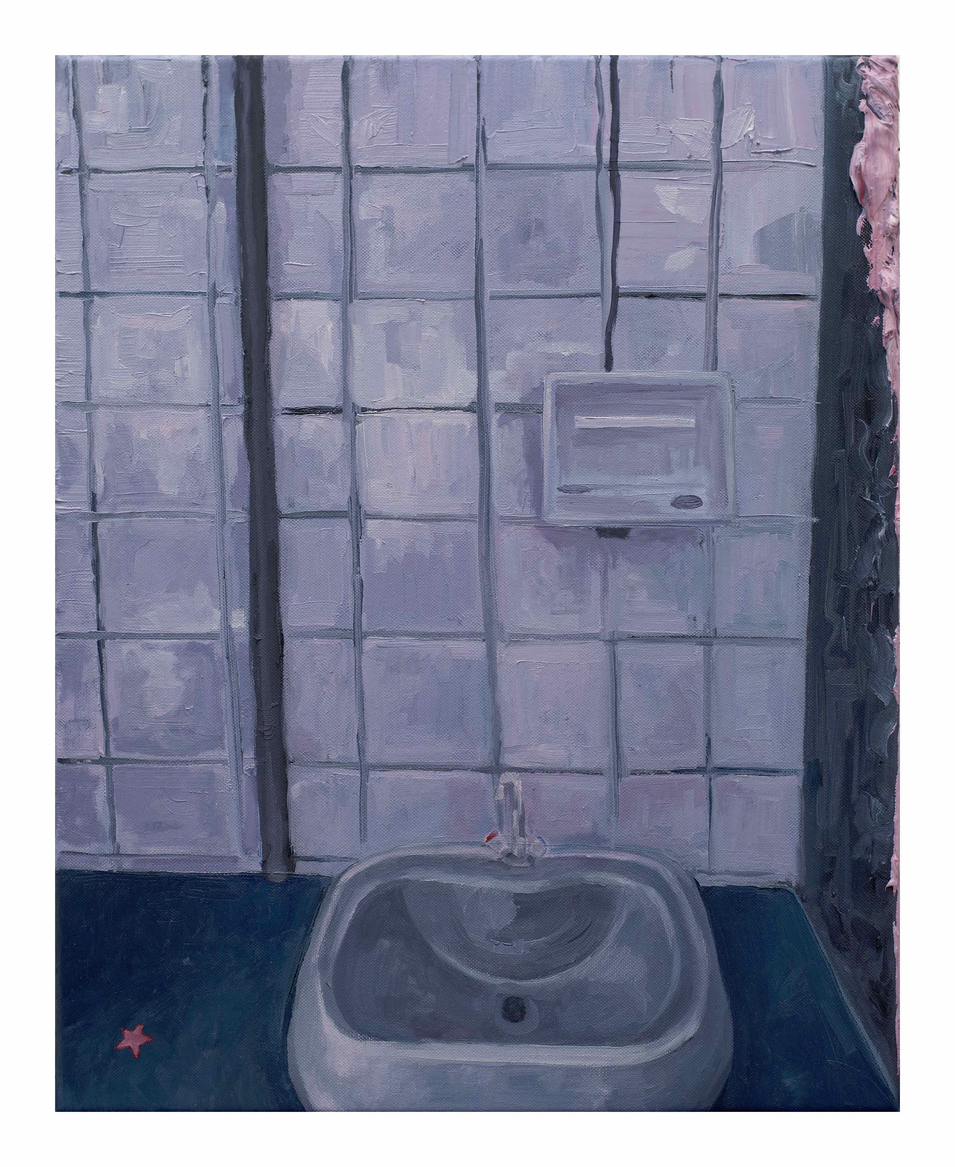 Filippo Cristini, Tutto ciò che è solido si scioglie nell'aria, 2018, olio su tela, 50x40 cm